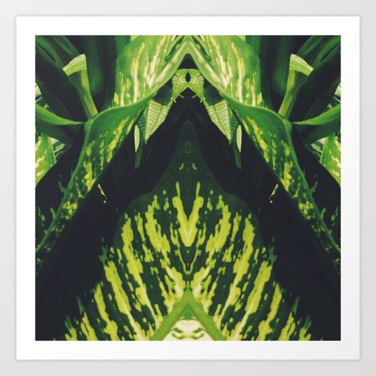50 Shades of Green (5) Art Print