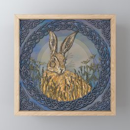 Celtic Hare Framed Mini Art Print