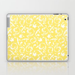 Figurative Pattern in Yellow and White Laptop & iPad Skin