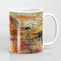da vinci Mugs featuring Leonardo da Vinci Abstract  by  Agostino Lo Coco