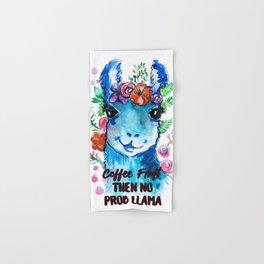 Coffee First Then No Prob Llama Hand & Bath Towel
