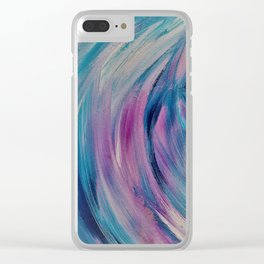 Color Swirl Clear iPhone Case