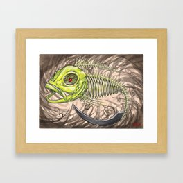 "Koi Series,""Behold a Pale Horse, and his name it said on it was death, and hell followed him."" Framed Art Print"