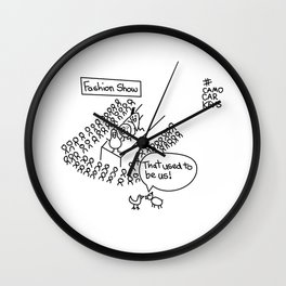 Fashion show Wall Clock