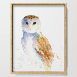 Evening Barn Owl Serving Tray