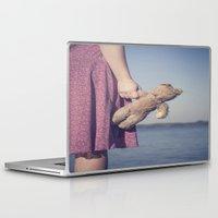 teddy bear Laptop & iPad Skins featuring Teddy by Maria Heyens