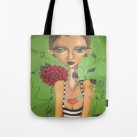 charmaine Tote Bags featuring Tattooed by Charmaine D'Silva