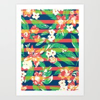 tropical Art Prints featuring Tropical by Steven Toang