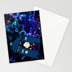 Tardis in space Doctor Who 3 Stationery Cards
