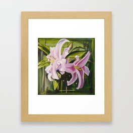 Sunkissed Lilies, Study 2 Framed Art Print