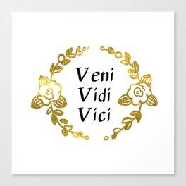 Veni, Vidi, Vici Canvas Print