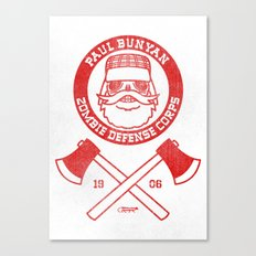 Paul Bunyan Zombie Defense Corps Canvas Print