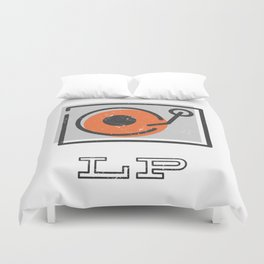 Long Play Graphic Duvet Cover