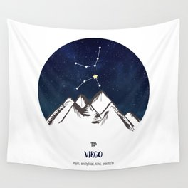 Astrology Virgo Zodiac Horoscope Constellation Star Sign Watercolor Poster Wall Art Wall Tapestry