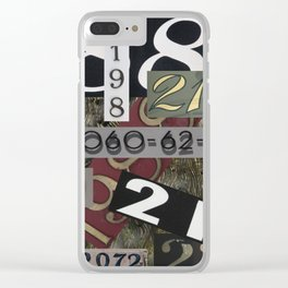 House Numbers Clear iPhone Case