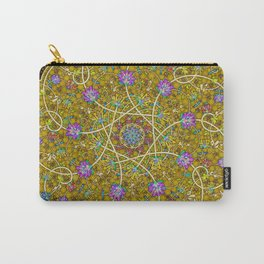Gold Swirl Carry-All Pouch