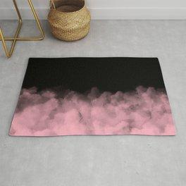 Pink Clouds on Black Rug