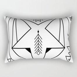 smiling geometric fox native spirit art universe Rectangular Pillow