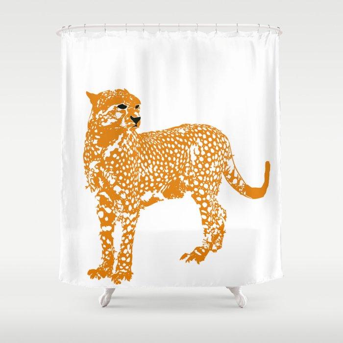Mighty Cheetah Shower Curtain By Ialbert