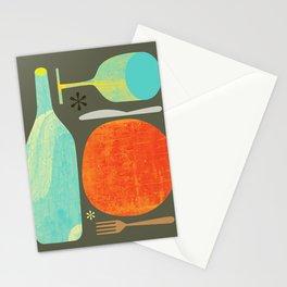 Wine & Dine Kitchen Art Stationery Cards