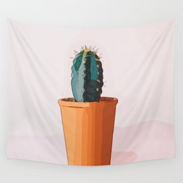 Happy Peaceful Cactus Wall Tapestry