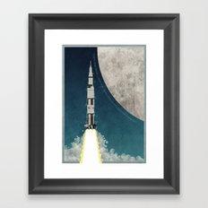 Apollo Rocket Framed Art Print