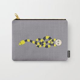 The Scarf Mark - Yellow and Grey Carry-All Pouch