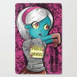Free Hugs Walking Dead Zombie Girl Cutting Board