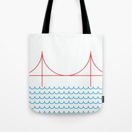 Stamp series - Golden gate Tote Bag