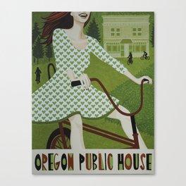 Oregon Public House Poster - 5 Canvas Print