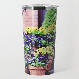 Flowers on Stoop in South End Travel Mug