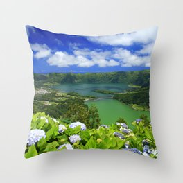 Crater lakes Throw Pillow