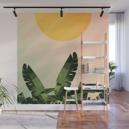 Sunny heliconia Wall Mural