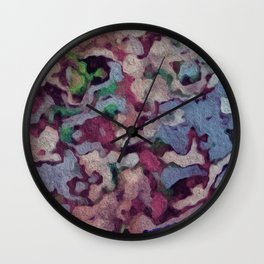 Pastel Mess Wall Clock