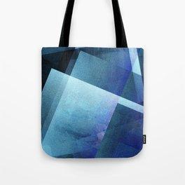 Bold Blue Blocks - Digital Geometric Texture Tote Bag
