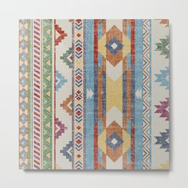Vintage Multicolore Rug Design Metal Print