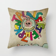 Bunny Obsession Again! Throw Pillow