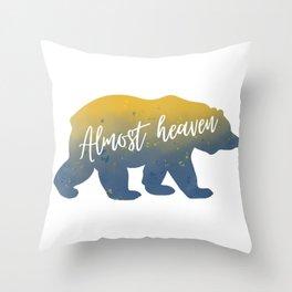 Almost Heaven Bear Watercolor Art Throw Pillow