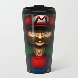 Sad Mario Metal Travel Mug