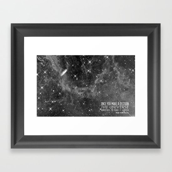Put yourself out there Framed Art Print
