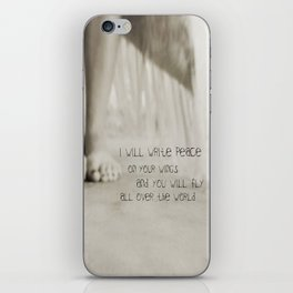 peace on your wings iPhone Skin