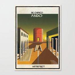 de chirico+Ando Canvas Print