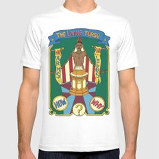 The Living Torso White MEDIUM Mens Fitted Tee