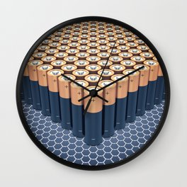 Batteries Wall Clock
