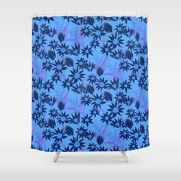 Flannel Flower Fields Shower Curtain