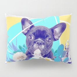 Eclectic Geometrical Bulldog Pillow Sham