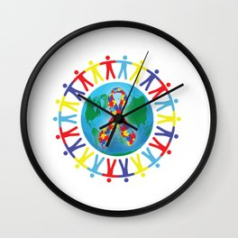 Autism awareness day Shirt - support autistic kids Wall Clock