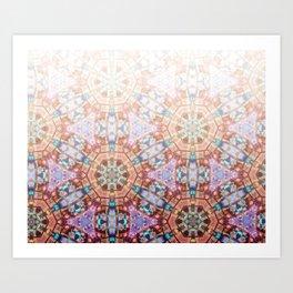 Geometric Ombre Art Print