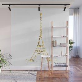 Digital-Art Eiffel Tower | golden Wall Mural