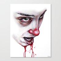 lip Canvas Prints featuring Split Lip by Dylan Chudzynski